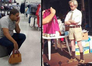 קורע מצחוק – 20 תמונות של גברים סובלים כשהאישה לוקחת אותם לקניות