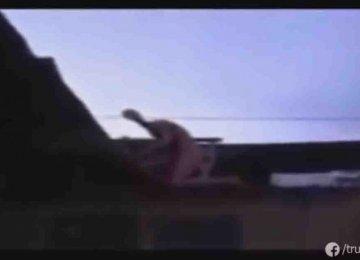 מפחיד – האיכר הזה תיעד ייצור מוזר עם רגליים ארוכות וראש ארוך וקטן מטפס על גג ביתו