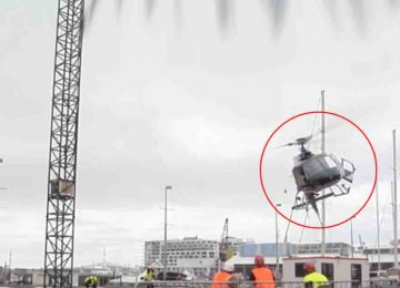 מצמרר: מסוק פגע בכבל חשמלי בזמן תעופה והכל מתועד מקרוב!