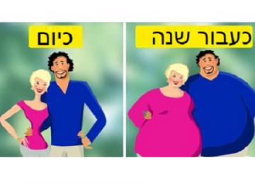 מחקרים מוכיחים: זוגות אשר באמת מאוהבים נוטים להשמין יחדיו!