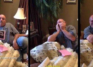 מרגש עד דמעות – הביאה לאבא שלה מתנה גור כלבים לאחר שאיבד את 2 כלביו האהובים