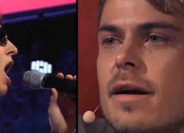 כשהשופט גילה שהזמר עיוור – הוא פשוט לא הפסיק לבכות מהתרגשות