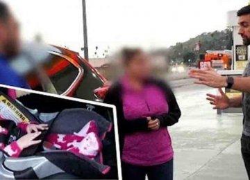 היא השאירה את התינוקת לבד ברכב מונע – הוא חטף את התינוקת כדי ללמד אותה לקח