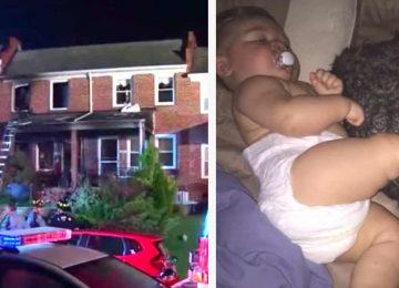 האם הייתה בטוחה שהיא איבדה את בתה התינוקת בשריפה שפרצה בביתה – אך תשימו לב טוב מה הכלב של המשפחה עשה