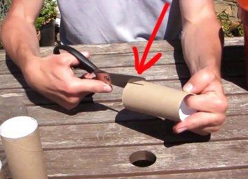 כך הופכים גליל של נייר טואלט למשהו מגניב בטירוף.גאוני!