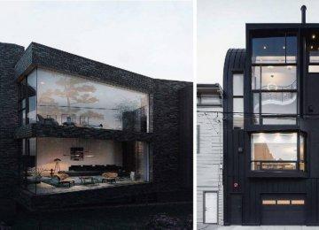 בתים מרהיבים במיוחד לאוהבי צבע שחור