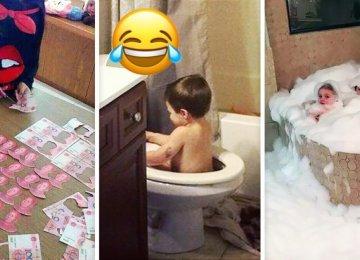 20 תמונות שמראות שאסור להשאיר ילדים לבד בבית לעולם!