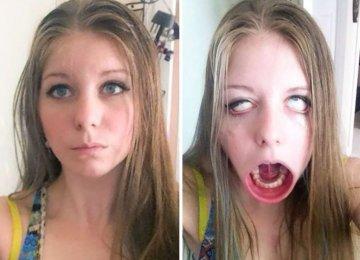19 תמונות סלפי שבחורות שולחות לחברות במצב לפני ואחרי