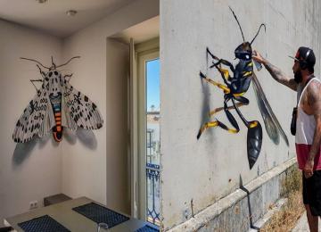 אמן רחוב יוצר גרפיטי 3D מטשטש את הקו בין אמנות למציאות, וכן- זה מאוד מרשים!