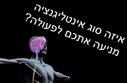 איזה סוג אינטליגנציה מניעה אתכם לפעולה?